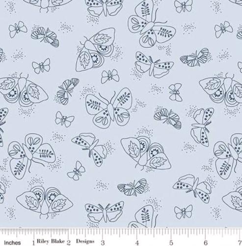 RILEY BLAKE - Wild Bouquet - Moths - Blue