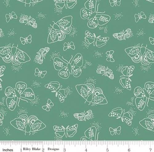 RILEY BLAKE - Wild Bouquet - Moths - Green - #2918-