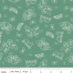 RILEY BLAKE - Wild Bouquet - Moths - Green - #2918-