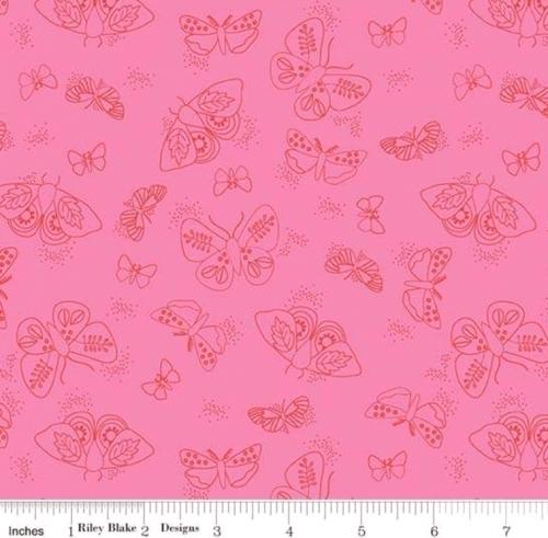 RILEY BLAKE - Wild Bouquet - Moths - Pink - #2919-