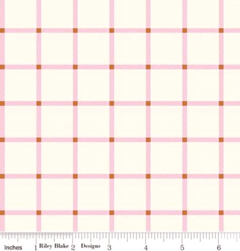 RILEY BLAKE - Wild Bouquet - Plaid - Cream - #3100-