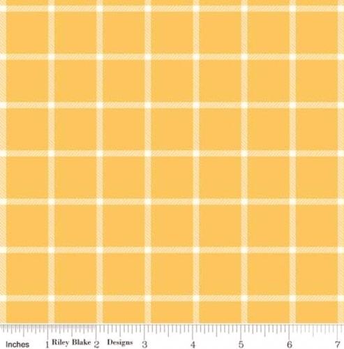 RILEY BLAKE - Wild Bouquet - Plaid - Mustard - #2922-