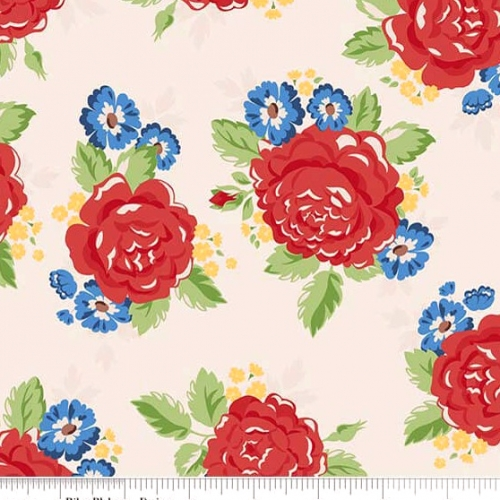 PENNY ROSE FABRICS - Harry & Alice - Cream - Floral - #1544-
