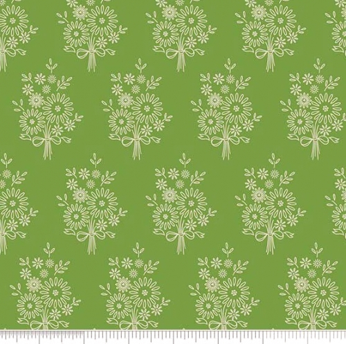 PENNY ROSE FABRICS  - Harry & Alice - Green - Floral - #1537-