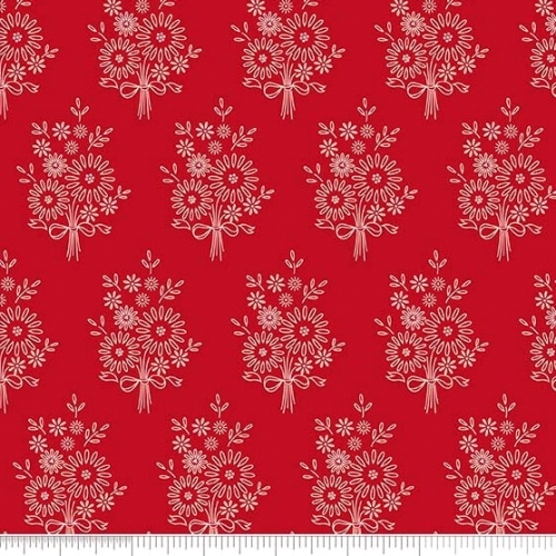 PENNY ROSE FABRICS - Harry & Alice - Red Floral - #1546-