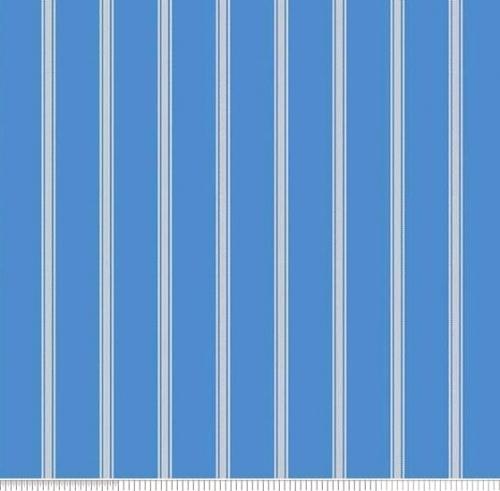PENNY ROSE FABRICS - Harry & Alice - Blue -  Stripe - #1550-
