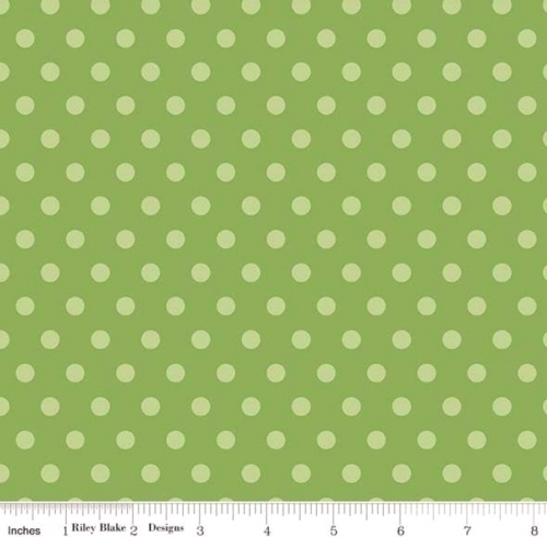 PENNY ROSE FABRICS - Harry & Alice - Green Dots - #1551-