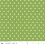 PENNY ROSE FABRICS - Harry & Alice - Green Dots - #1551-