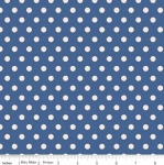 PENNY ROSE FABRICS - Harry & Alice - Navy Dots