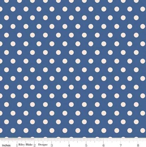 PENNY ROSE FABRICS - Harry & Alice - Navy Dots