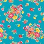 RILEY BLAKE - Hand Picked Collection - Teal Floral - #2137-