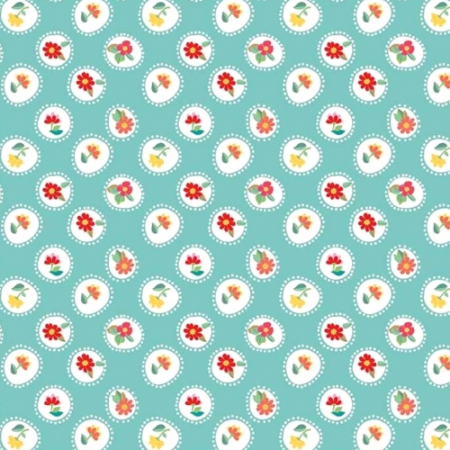 RILEY BLAKE - Hand Picked Collection - Teal Circle - #2132-