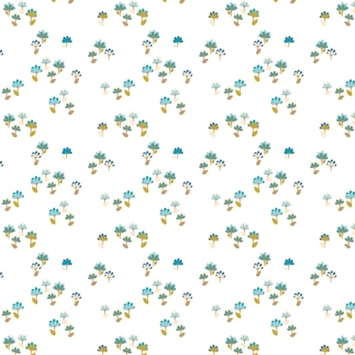 RILEY BLAKE - Hand Picked Collection - White Tiny Floral