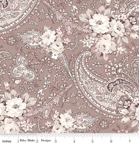 Penny Rose - Rose Garden - Paisley - Taupe