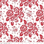 RILEY BLAKE - So Ruby - Large Floral On White