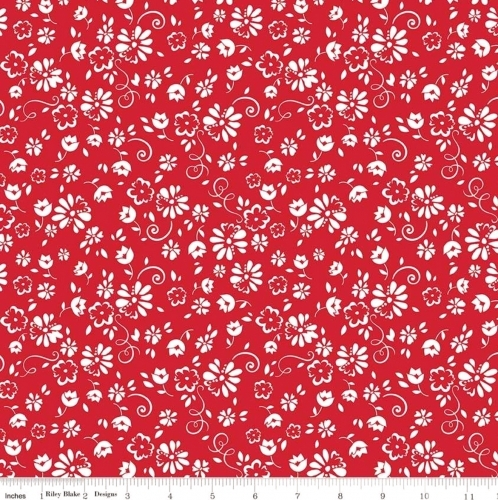 RILEY BLAKE - So Ruby - Floral on Red - #2149-