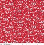 RILEY BLAKE - So Ruby - Floral on Red
