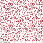 RILEY BLAKE - So Ruby - Floral on White