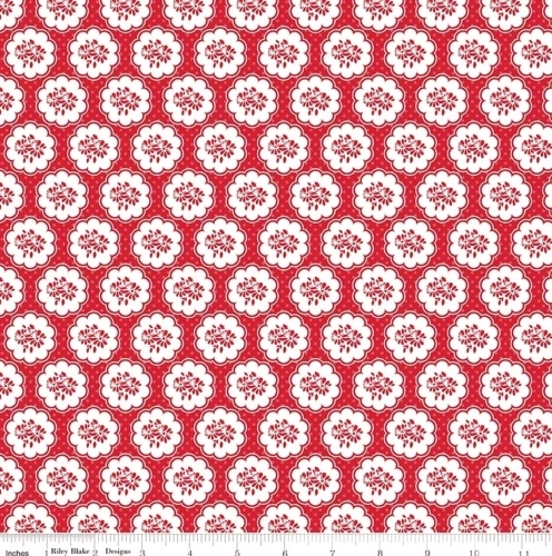 RILEY BLAKE - So Ruby - Posies & Polka Dots Red - #2147-