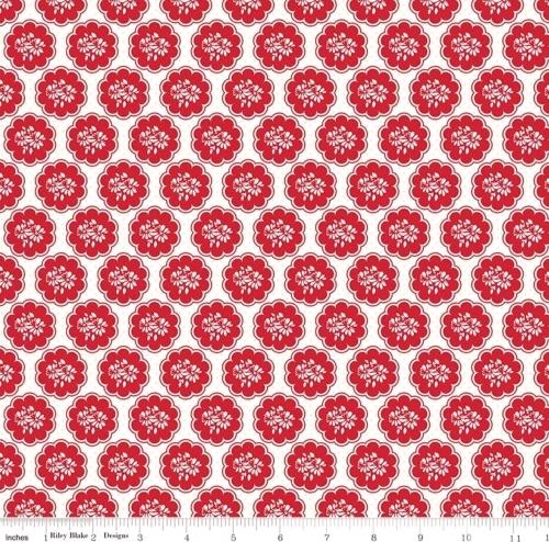 RILEY BLAKE - So Ruby - Posies & Polka Dots White