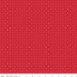 MODA FABRICS - So Ruby - Pin Dots White On Red