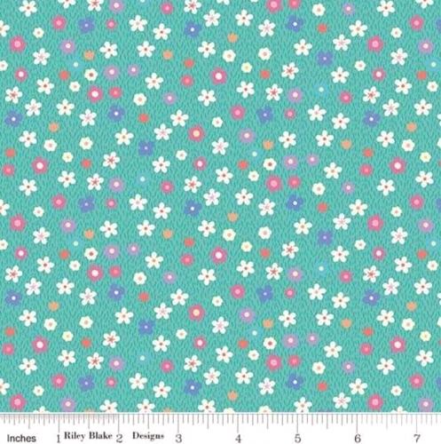 RILEY BLAKE - Molang - Flowers - Teal - #2035-