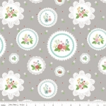 RILEY BLAKE - Vintage Keepsakes - Floral Doilies Gray
