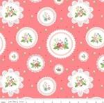 RILEY BLAKE - Vintage Keepsakes - Floral Doilies - #1997- Pink