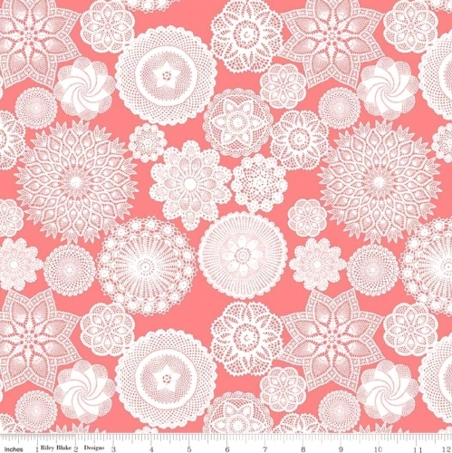 RILEY BLAKE - Vintage Keepsakes - Doilies Pink