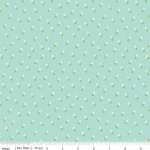 RILEY BLAKE - Vintage Keepsakes - Tiny Flowers Aqua - #2002-