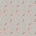 RILEY BLAKE - Vintage Keepsakes - Floral Heart Gray - #2004-