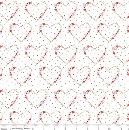 RILEY BLAKE - Vintage Keepsakes - Floral Heart White - #2000-