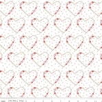 RILEY BLAKE - Vintage Keepsakes - Floral Heart White - #2000-