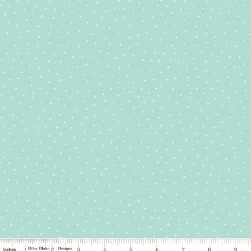RILEY BLAKE - Vintage Keepsakes - Cross Stitch Aqua
