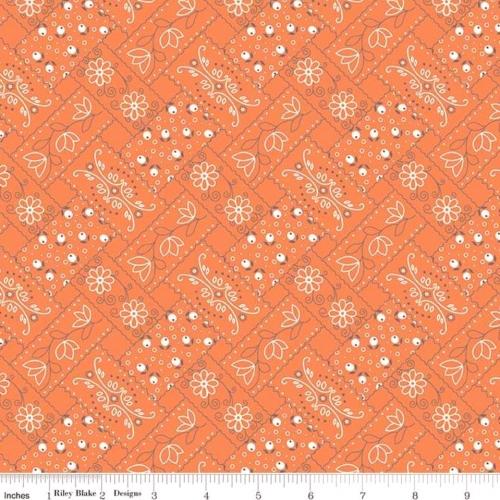 RILEY BLAKE - Farm Girl Vintage - Orange Bandanna