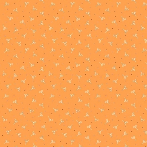 Skinny - SK3012- 1 yd - RILEY BLAKE - Farm Girl Vintage - Seedling Orange
