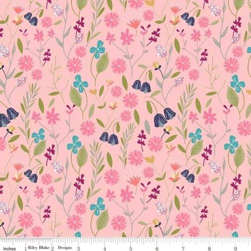 RILEY BLAKE - In The Meadow - Flower Field Pink