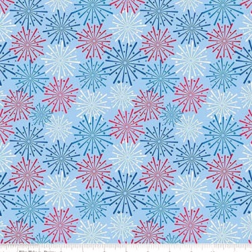 RILEY BLAKE - Patriotic Picnic - Light Blue