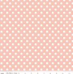 RILEY BLAKE - Bliss - Polka Dots White on Blush