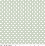 RILEY BLAKE - Bliss - Polka Dots White on Sage