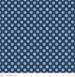 RILEY BLAKE - Fox Farm - Dots Navy - #2695-