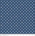 RILEY BLAKE - Fox Farm - Dots Navy - #2695-