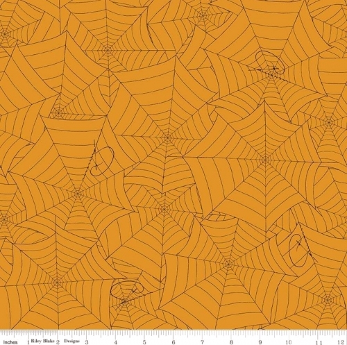 RILEY BLAKE - Costume Maker's Ball - Spiderwebs Orange