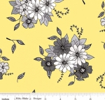 RILEY BLAKE - PENNY ROSE FABRICS - Jill Finley - Honey Run - Main - Yellow - #2541-