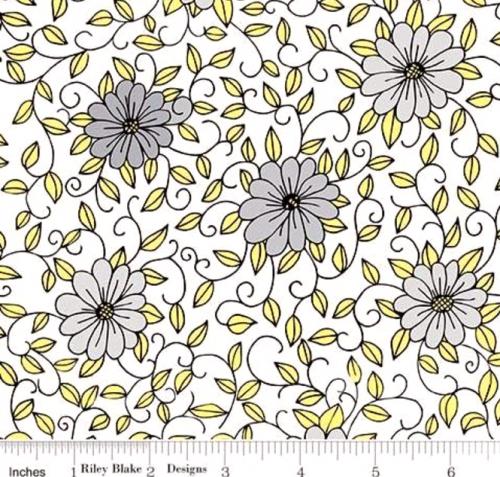 RILEY BLAKE - PENNY ROSE FABRICS - Jill Finley - Honey Run - Vine - White - #2537-