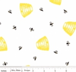 RILEY BLAKE - PENNY ROSE FABRICS - Jill Finley - Honey Run - Hive - White - #2535-