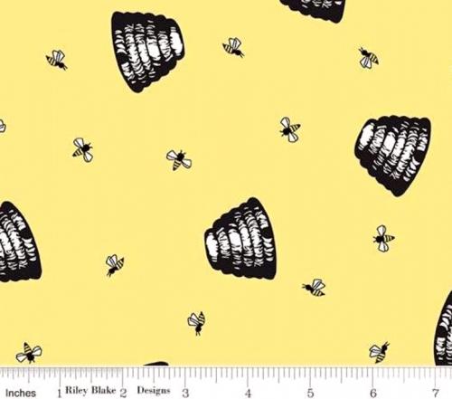 RILEY BLAKE - PENNY ROSE FABRICS - Jill Finley - Honey Run - Hive - Yellow - #2534-