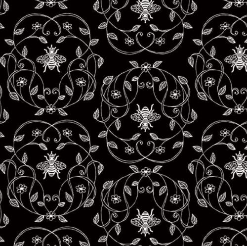 RILEY BLAKE - PENNY ROSE FABRICS - Jill Finley - Honey Run - Queen - Black