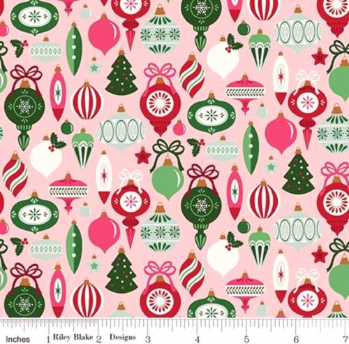 RILEY BLAKE - Merry and Bright - Ornaments - Pink