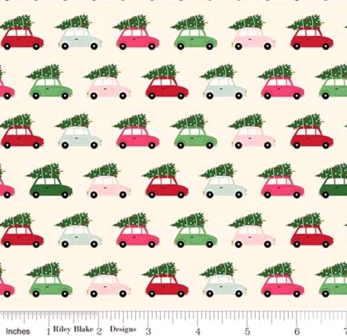RILEY BLAKE - Merry and Bright - Cars - Cream